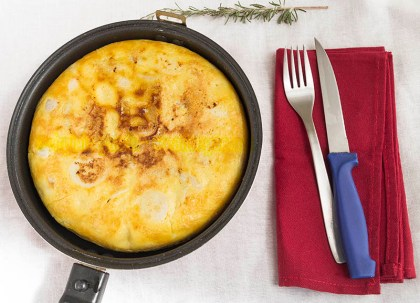 Tortilla vegana con tofu y harina de maíz