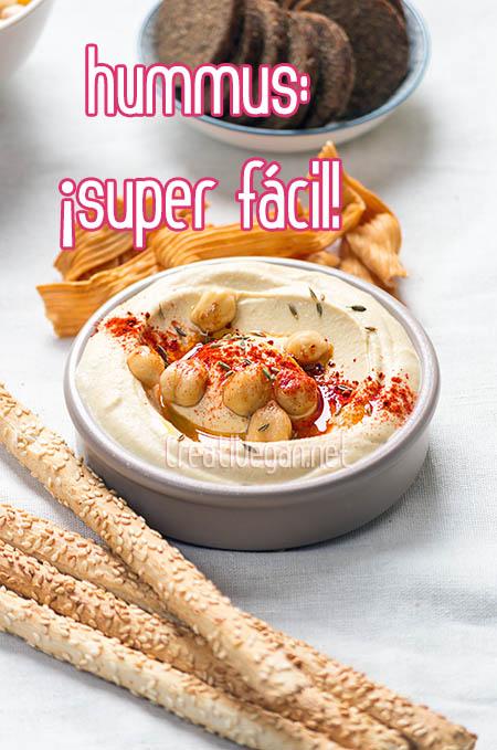 Snacks rápidos y veganos: Hummus