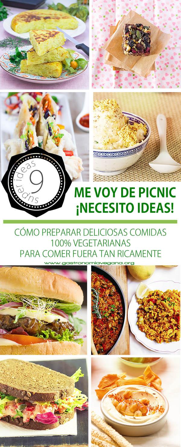 Me voy de picnic... ¿qué me llevo? Ideas y recetas para llevar comida vegana y comer fuera tan ricamente