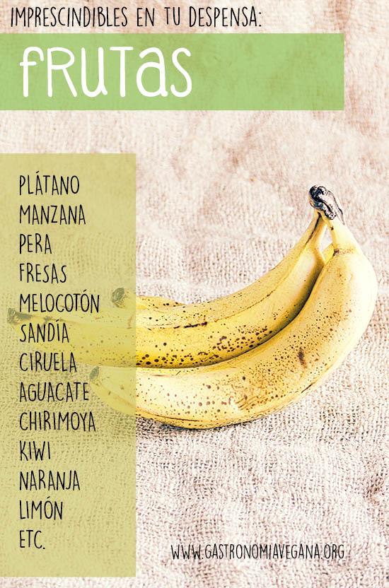 Alimentos imprescindibles en una despensa vegana: frutas -- GastronomiaVegana.org
