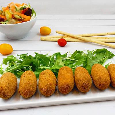 Croquetas de soja y ceps - La Gloria Vegana