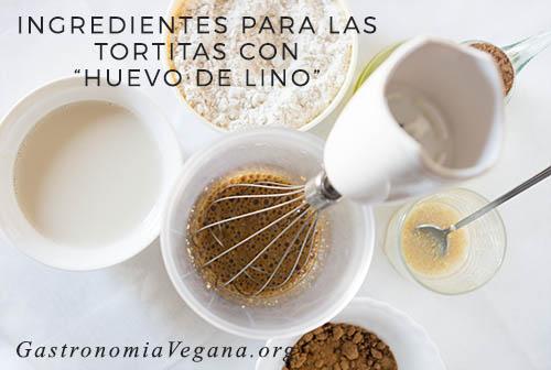Ingredientes para hacer tortitas veganas con semillas de lino - GastronomiaVegana.org