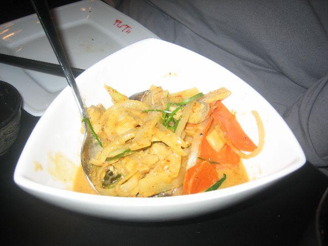 pho green papaya chicken panang curry