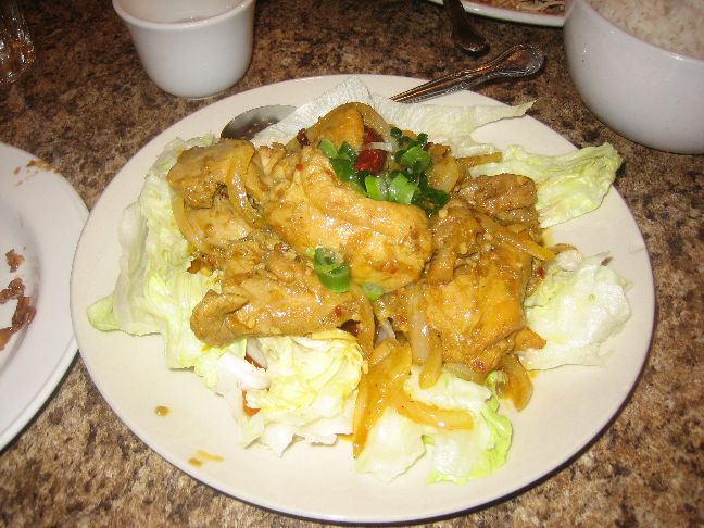 cindy lee cafe chicken with lemon grass