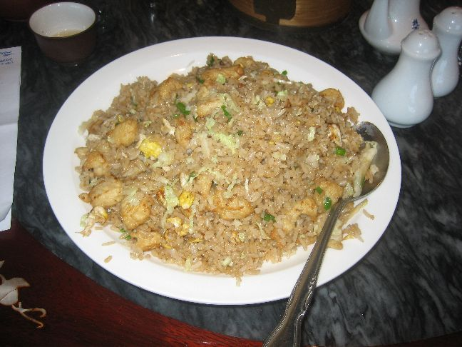 Hong Kong Tea House and Restaurant fried rice with chicken and salted fish