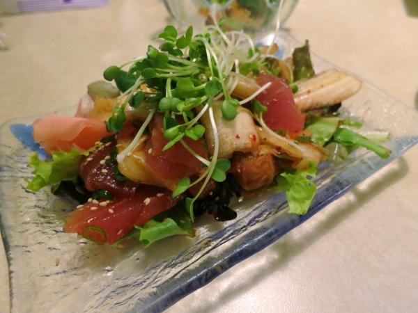kimchee maguro salad at kyoto