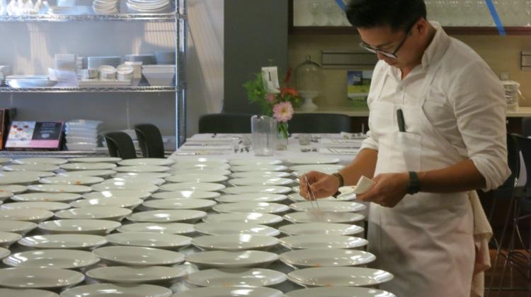 viet pham prepares dishes at feast of five senses 2013
