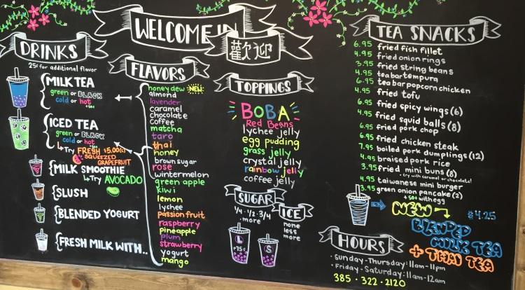 tea bar menu sugarhouse