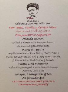 frida bistro summer menu