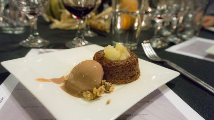 feast of five senses 2015 gingerbread with brandy poached pairs