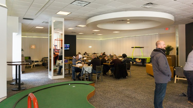 The break room at The Gateway