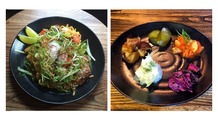 Yoko Ramen - kimchi and pork belly noodle with pickle plate. Now with added booze.