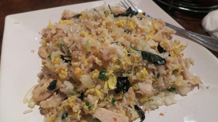 Indochine - basil, garlic and chili chicken fried rice