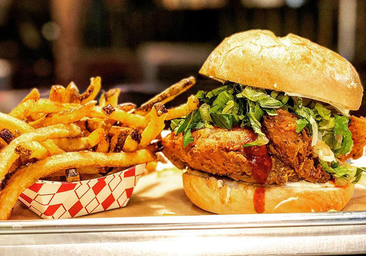 Nomad Eatery - crispy chicken sandwich. Credit, Nomad Eatery