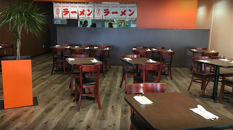 Tosh Ramen Holladay interior. Credit, Tosh's Ramen