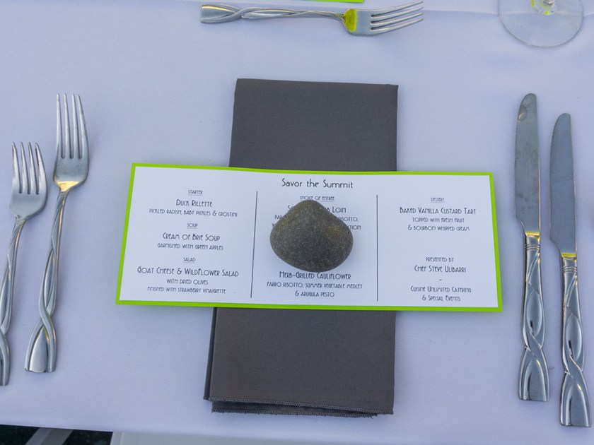 Savor The Summit 2017 - Cuisine Unlimited place setting