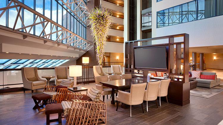 Atrium and lobby at Marriott University (Marriott)