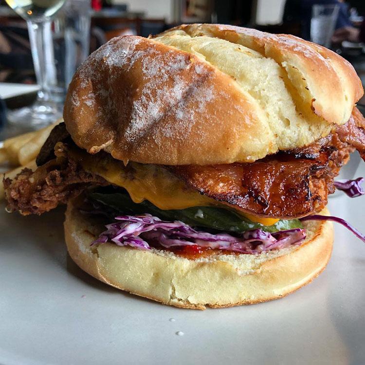 Element Bistro - firebird chicken sandwich with ghost pepper jam (Heather L. King)