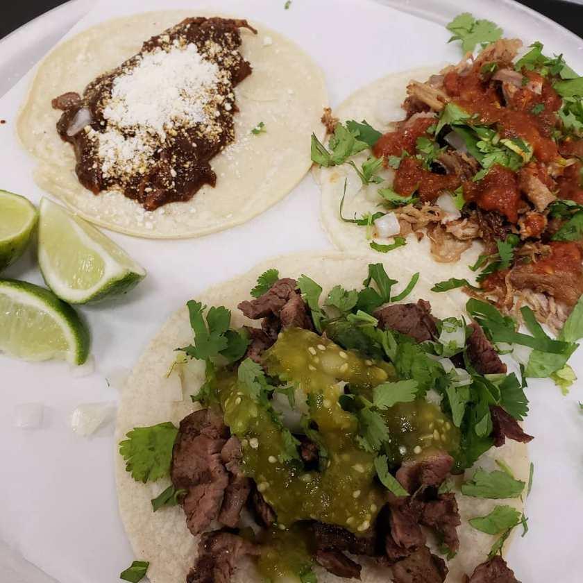 Santo Tacos - asada, carnitas and chicken mole tacos (slc_tacos)