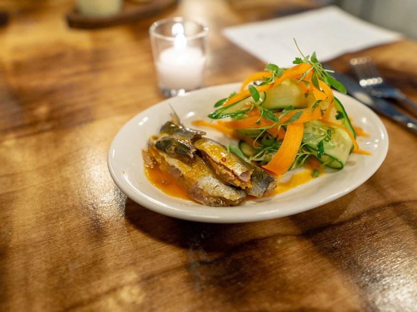 SLC Eatery - cold smoked sardines