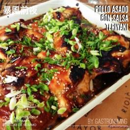 Pollo asado con salsa Teriyaki