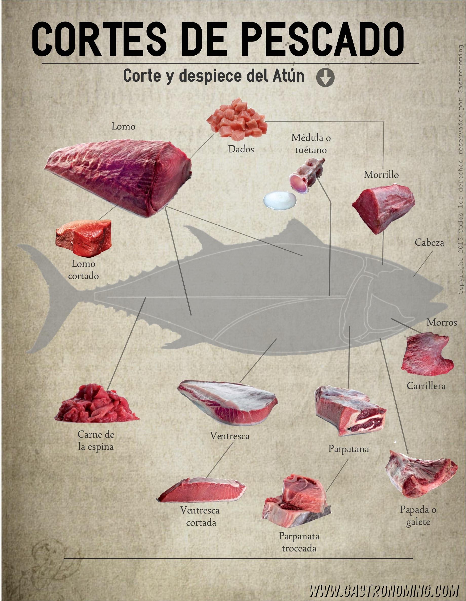 cortes de pescado