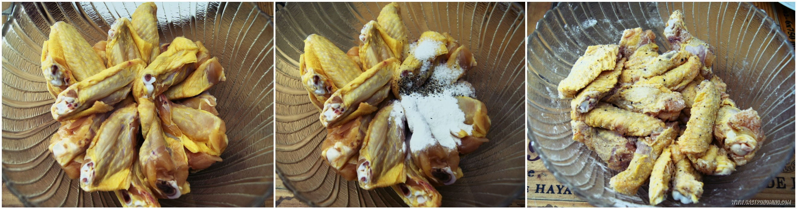 Alitas de pollo con sriracha y miel