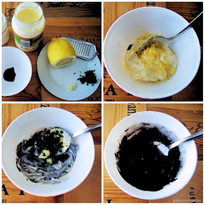 alioli negro de limón ahumado