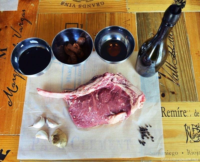 cowboy steak con miso rojo