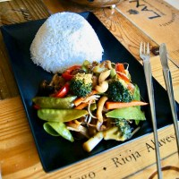 Verduras con salsa teriyaki