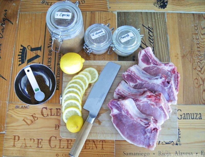 Chuletas de cerdo con 5 especias al limón sous vide 1