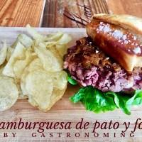 Hamburguesa de pato y foie