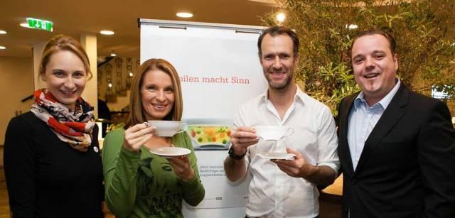 Suppe mit Sinn gegen Lebensmittelverschwendung Ulli Schmidt Barbara Stöckl Andreas Gabler Philipp Zinggl