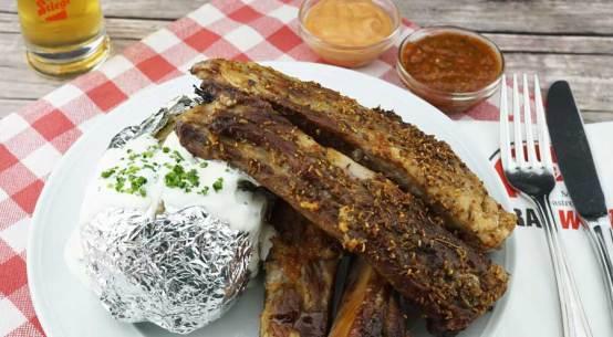 Ripperl-Essen in Salzburg Stiegl-Brauwelt