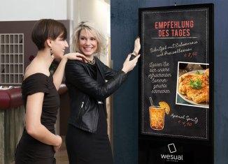 Digitale Kreidetafel für Gastronomie Gast-Messe 2017