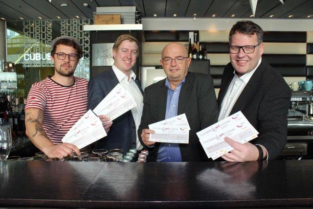 Next Generation : CulinaryArt-Festival Initiatoren v.l.: Michael Steininger (Muto), Michael Nell (Obmann hotspots), Gerold Royda (FG Obmann Hotellerie) und Thomas Mayr-Stockinger (FG Obmann Gastronomie)