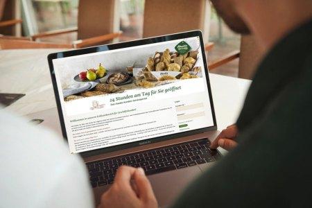 Haubi online entdecken : Kunden können sich über neue oder saisonale Produkte informieren oder im Archiv mit spannenden Veredelungsvorschlägen schmökern.