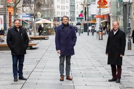Gastronomie fordert Öffnung Wollen die Wiener Gastlichkeit wieder wecken: Dominic Schmid, Wolfgang Binder und Peter Dobcak (v.l.).