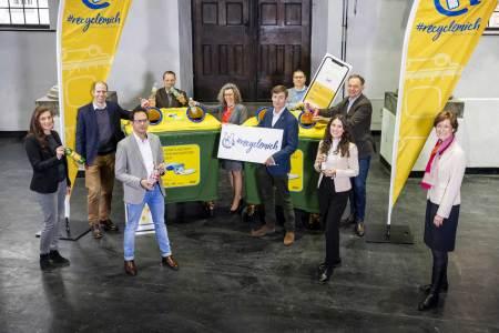 App Sammelquote Namhafte österreichische Getränkehersteller präsentieren als ersten Schritt der gemeinsamen RecycleMich-Initiative die RecycleMich-App.