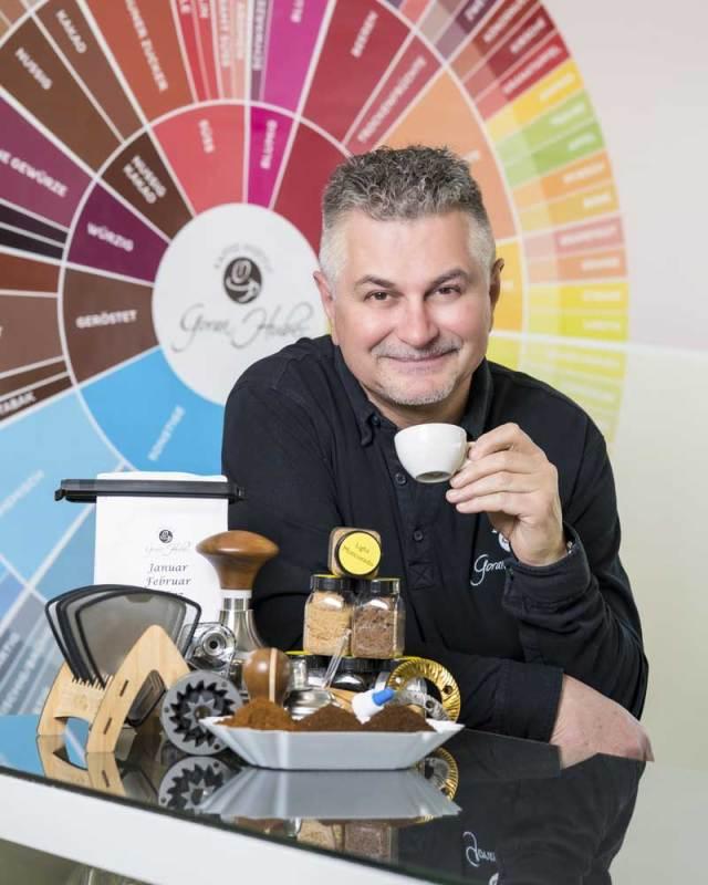 Goran Huber Gründer Kaffee-Instituts Goran Huber Innsbruck, Österreichischer Barista Meister etc.