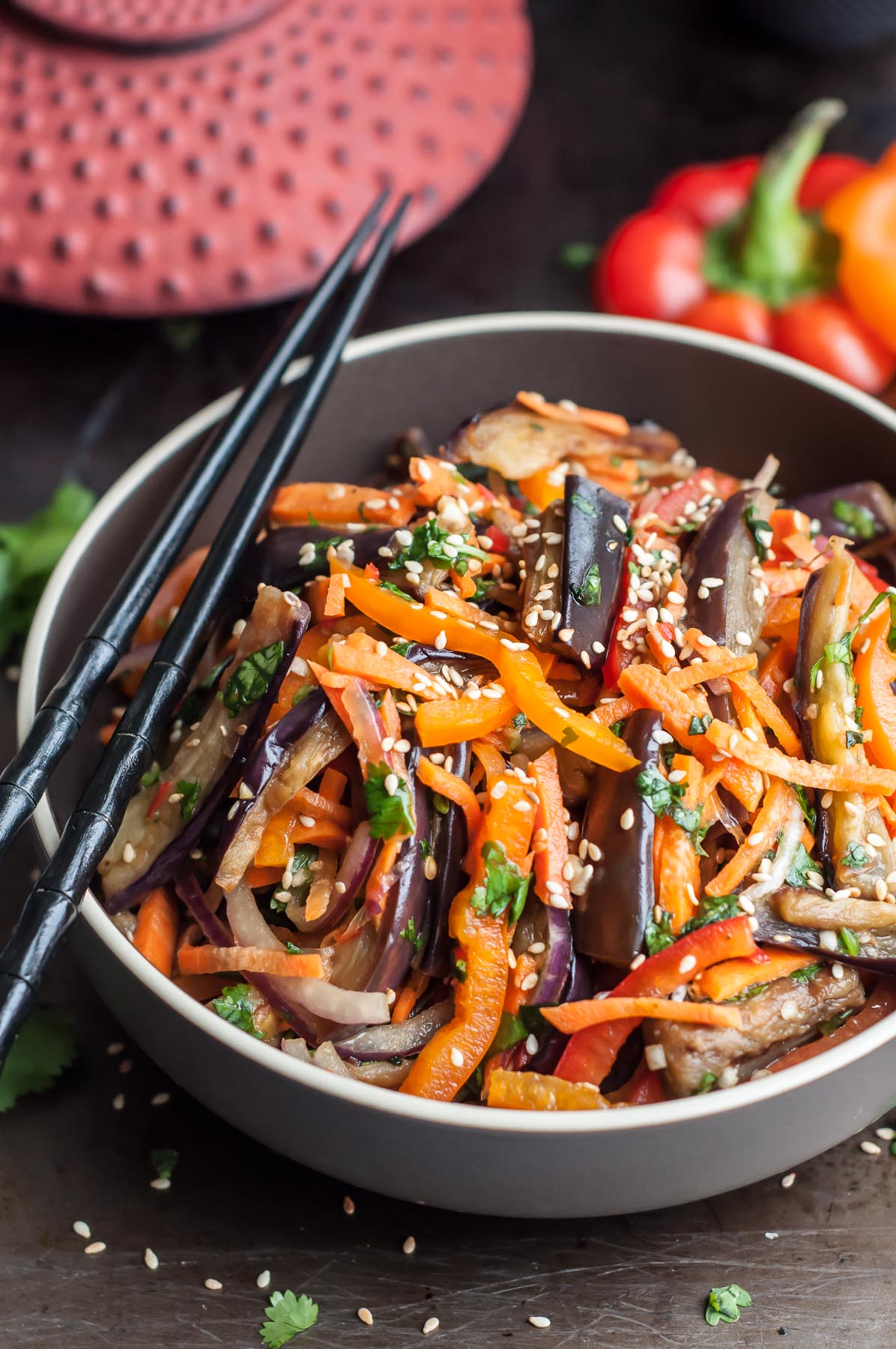 Asian Eggplant Salad - Xe