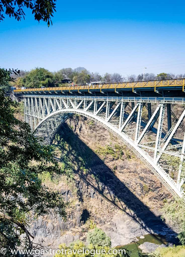 Bridge at Victoria Falls between Zimbabwe and Zambia