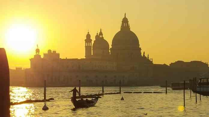 Sunset Venice Lagoon