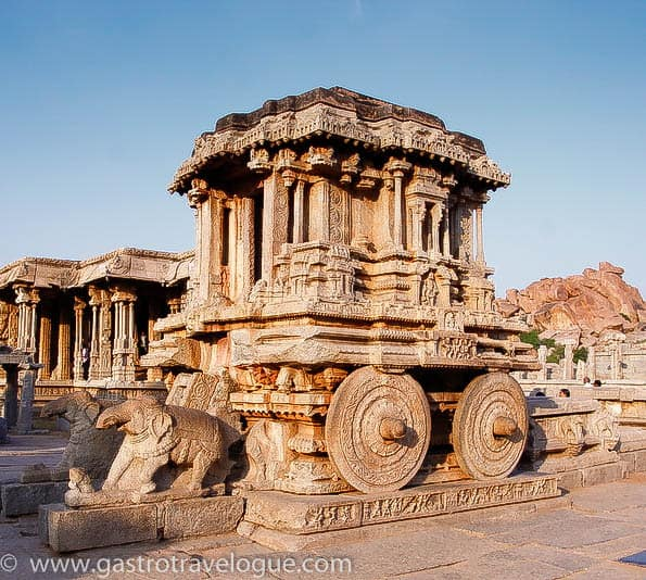 HAMPI INDIA CHARIOT AT THE VITTALA TEMPLE