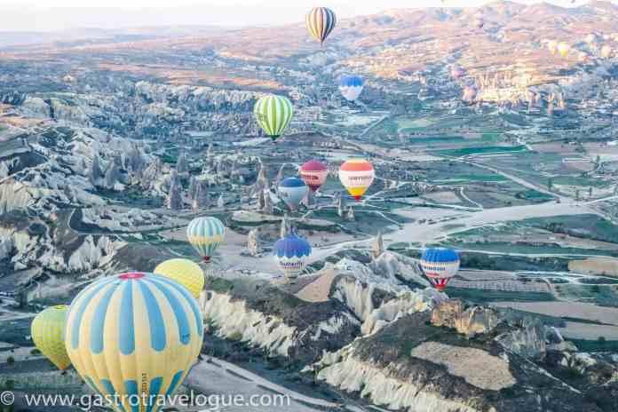 Balloons over Cappadocia Turkey