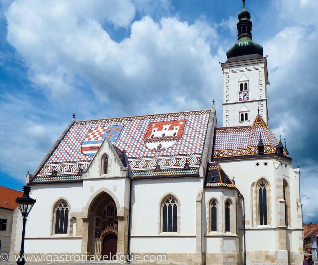 St Mark's church Zagreb Croatia