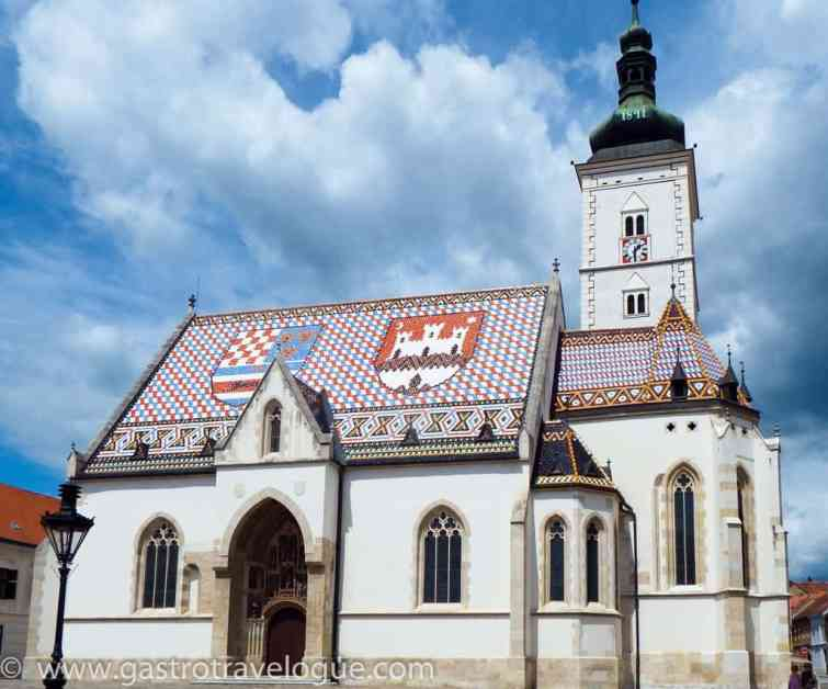 St Mark's church Zagreb Croatia