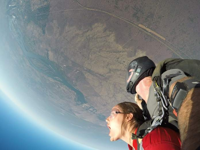 Skydiving at Victoria Falls