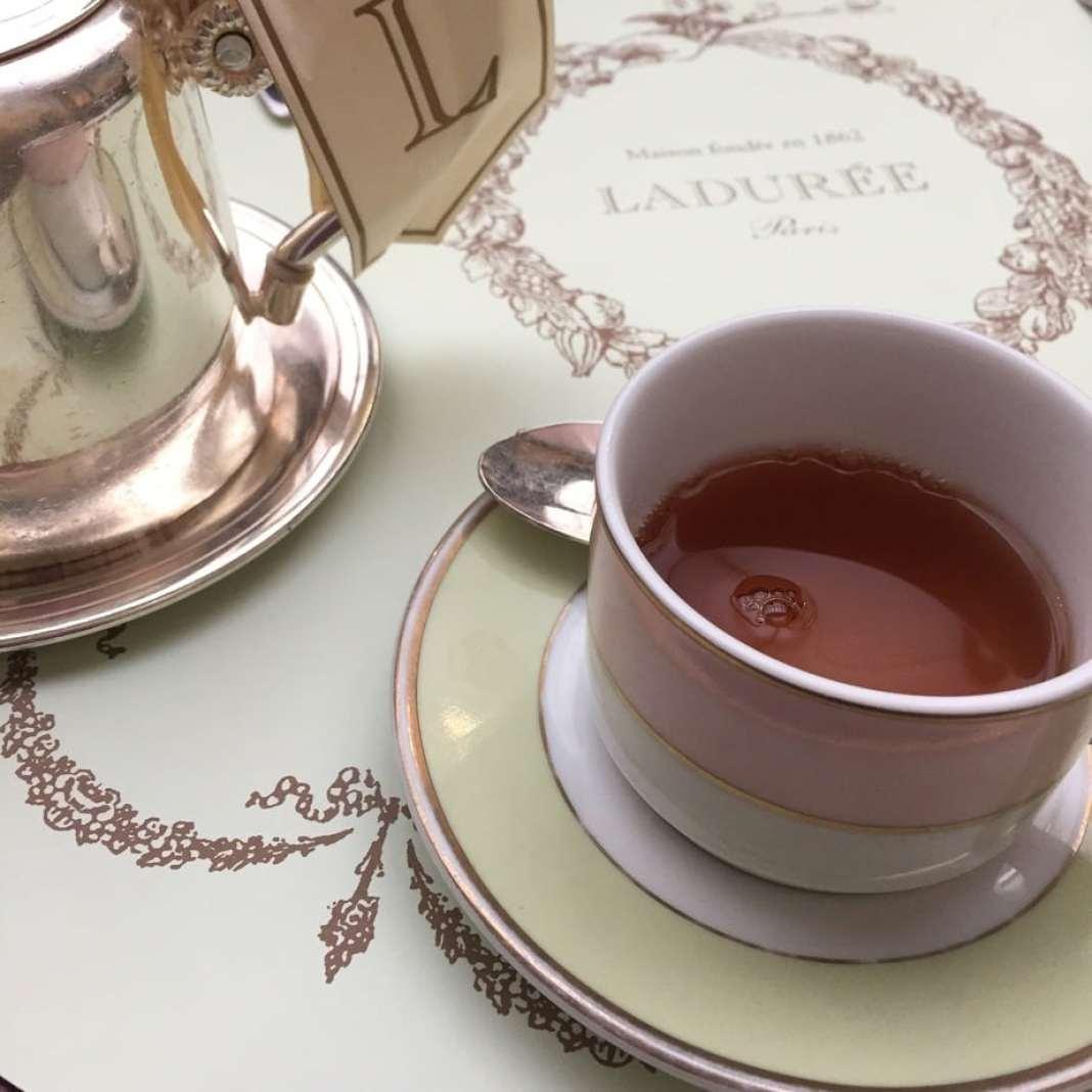Hot Chocolate at Ladurée Paris