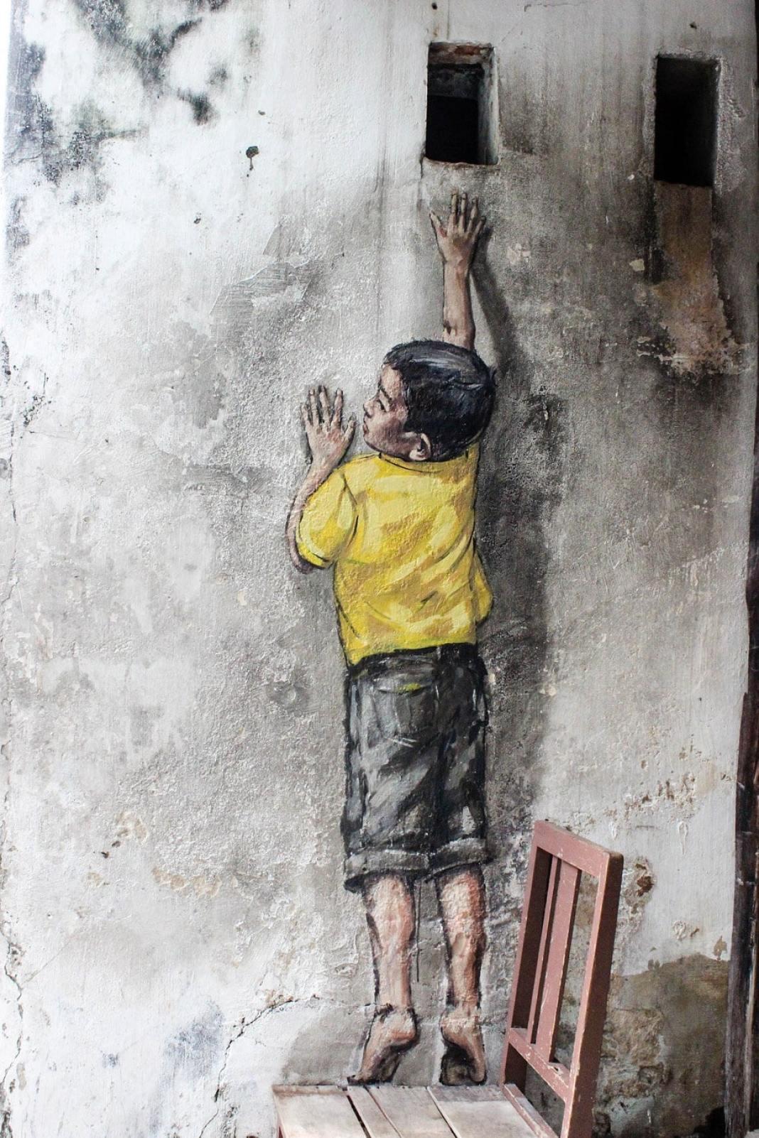 Boy on a chair Penang